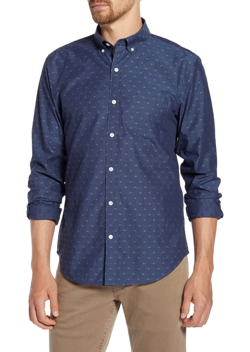 Bonobos Slim Fit Washed Dobby Dot Button-Down Shirt