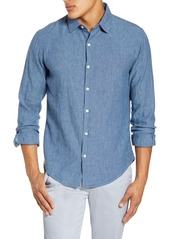 Bonobos Slim Fit Washed Linen Blend Button-Up Shirt