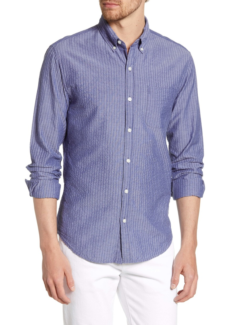 Bonobos Summer Weight Seersucker Stripe Slim Fit Sport Shirt