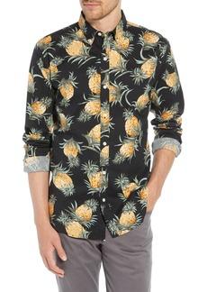 Bonobos Summerweight Slim Fit Pineapple Print Sport Shirt
