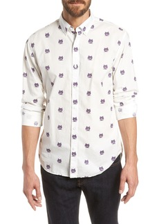 Bonobos Summerweight Slim Fit Tiger Print Sport Shirt