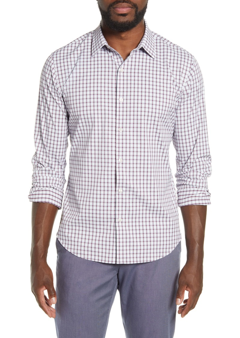 Bonobos Tech Slim Fit Check Button-Up Shirt