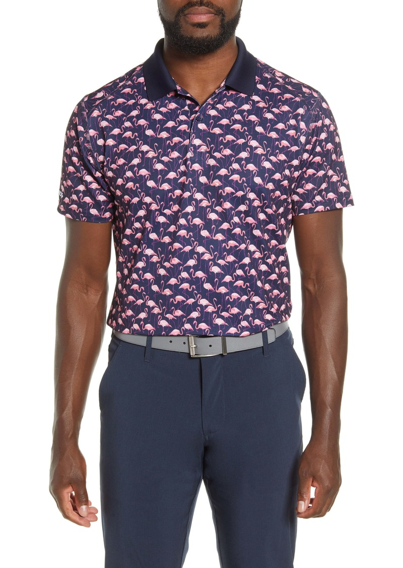 Bonobos The M-Flex Slim Fit Flamingo Print Piqué Golf Polo