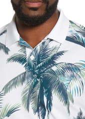 Bonobos The M-Flex Slim Fit Palm Print Piqué Golf Polo