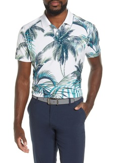Bonobos The M-Flex Slim Fit Palm Print Piqué Golf Polo