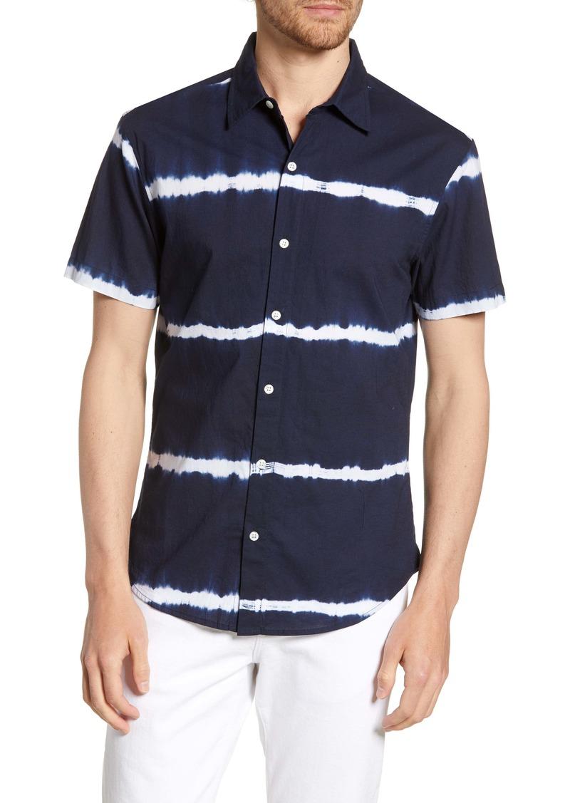 Bonobos Cabana Tie Dye Slim Fit Stripe Short Sleeve Button-Up Shirt