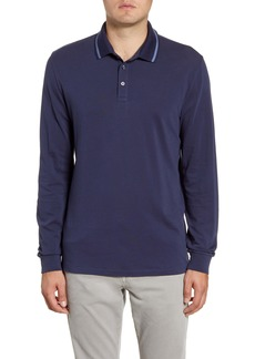 Bonobos Tipped Long Sleeve Superfine Piqué Polo