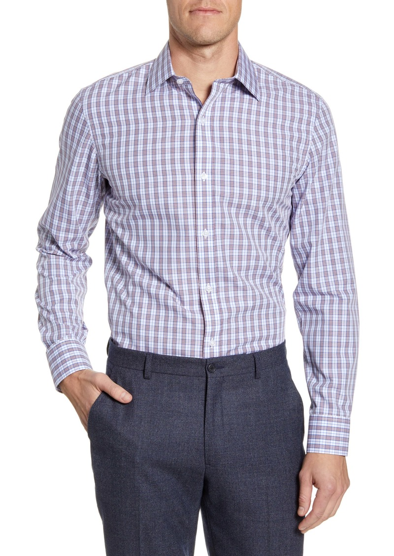 Bonobos Trim Fit Plaid Dress Shirt
