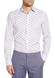 Bonobos Slim Fit Stretch Flamingo Print Dress Shirt