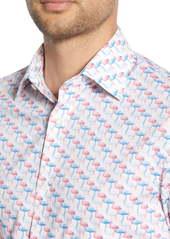 Bonobos Slim Fit Stretch Flamingo Print Dress Shirt