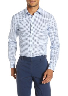 Bonobos Slim Fit Stretch Palm Print Dress Shirt