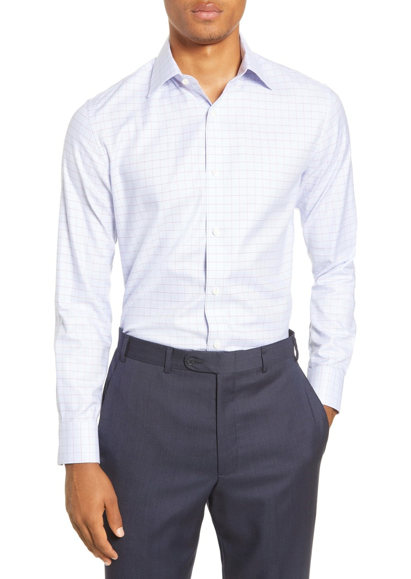 Bonobos Trim Fit Windowpane Dress Shirt