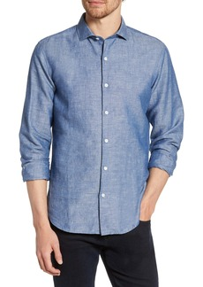 Bonobos Unbutton Down Slim Fit Linen & Cotton Sport Shirt