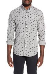 Bonobos Washed Button Down Slim Fit Lightning Print Sport Shirt