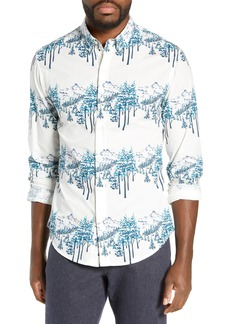 Bonobos Washed Button Down Slim Fit Mountain Print Sport Shirt