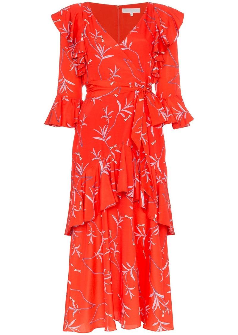 Borgo de Nor Aiana ruffle print midi dress
