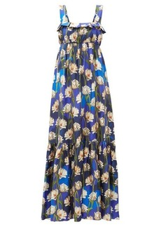 Borgo De Nor Amina floral-print silk-twill maxi dress