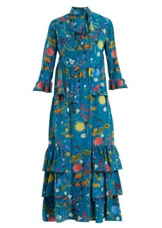 Borgo De Nor Aude Surreal Garden-print silk dress