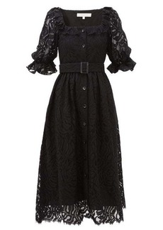 Borgo De Nor Corina belted lace midi shirtdress