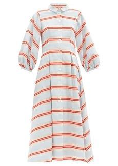 Borgo De Nor Eve striped cotton-blend shirt dress