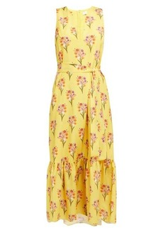 Borgo De Nor Florence floral-print crepe midi dress