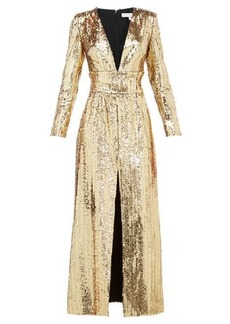 Borgo De Nor Gisele V-neck sequinned maxi dress