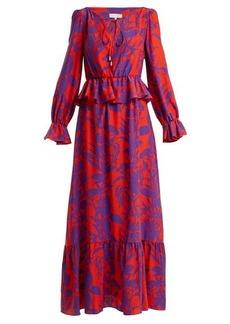 Borgo De Nor Lily Marquesa floral-print silk dress