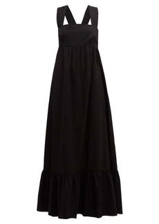 Borgo De Nor Mila crossover-back cotton-poplin maxi dress