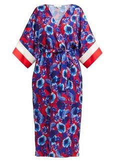 Borgo De Nor Raquel floral-print tie-waist dress