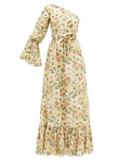 Borgo De Nor Regina fil-coupé floral-print silk-blend dress