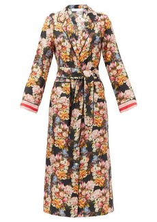 Borgo De Nor Solange belted floral-print silk shirt dress
