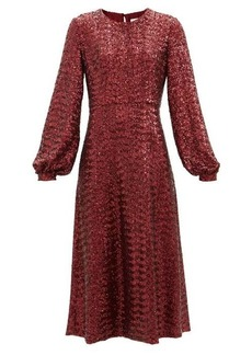 Borgo De Nor Zelda sequinned midi dress
