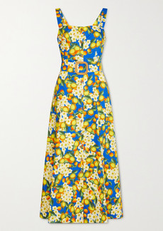 Borgo de Nor Camilla Printed Cotton-poplin Maxi Dress
