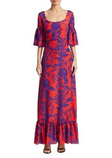 Borgo de Nor Elena Bell-Sleeve Flounce Dress
