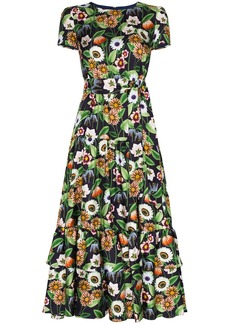 Borgo de Nor Elisa floral-print silk midi dress