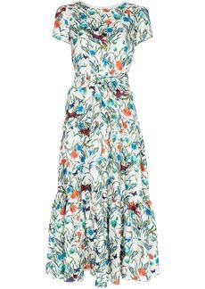 Borgo de Nor Eliza tiered floral midi dress