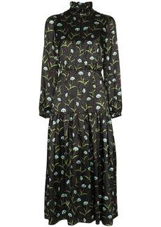 Borgo de Nor Eugenia floral-print jacquard midi dress