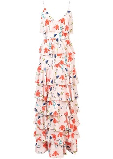 Borgo de Nor Filipa floral tiered dress