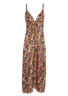 Borgo de Nor Flora Silk Twill Midi Dress