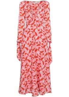 Borgo de Nor Floral dress with tie front