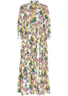Borgo de Nor floral print maxi shirt dress