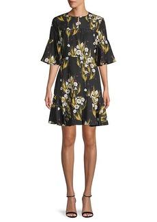 Borgo de Nor Floral-Print Mini Dress