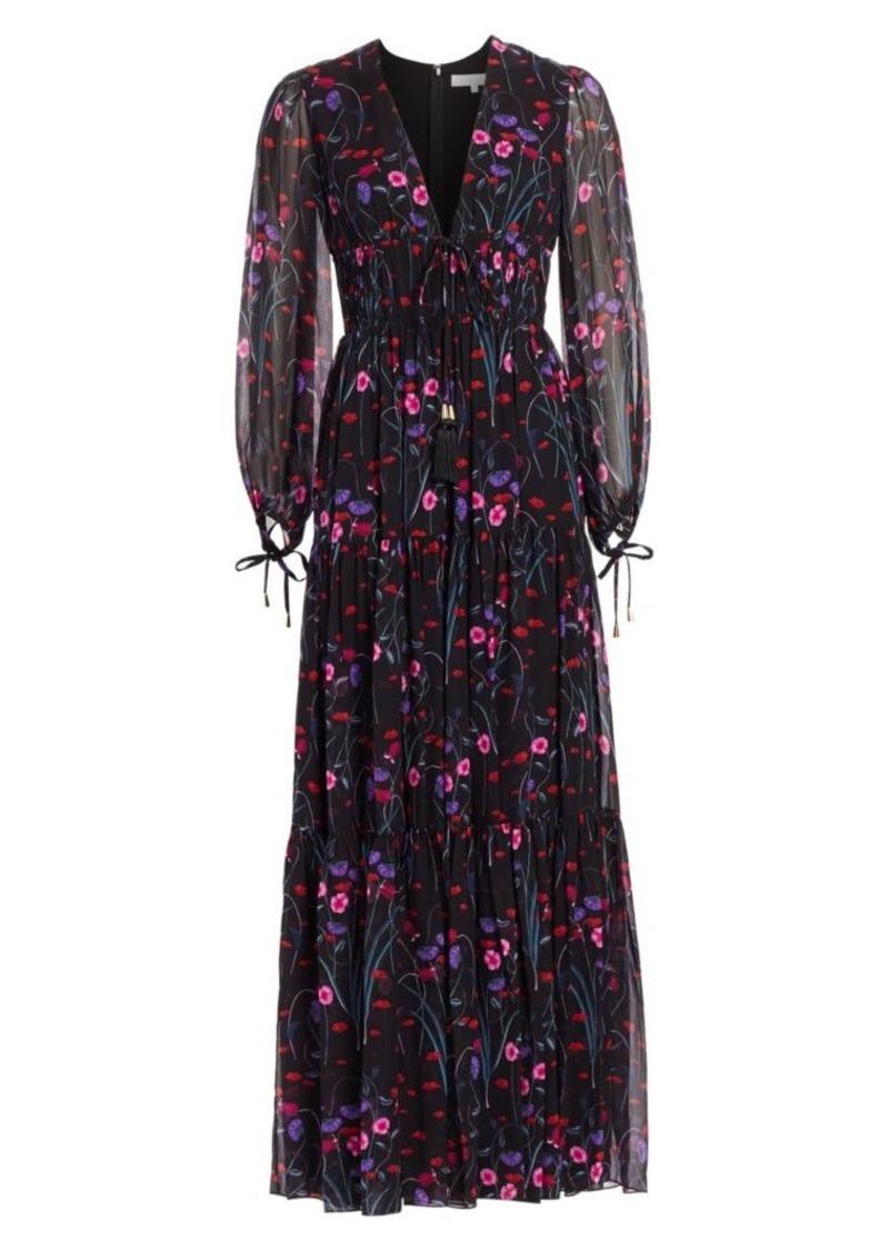Borgo de Nor Freya Floral Silk Gown