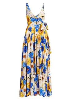 Borgo de Nor Gazella Silk Wrap Gown