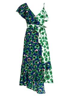 Borgo de Nor Leone Multi-Print Wrap Dress