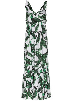 Borgo de Nor Liya foliate print maxi dress