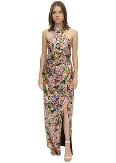 Borgo de Nor Lurex Jacquard Long Dress