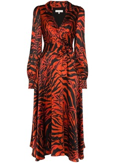 Borgo de Nor Nilla tiger print wrap dress