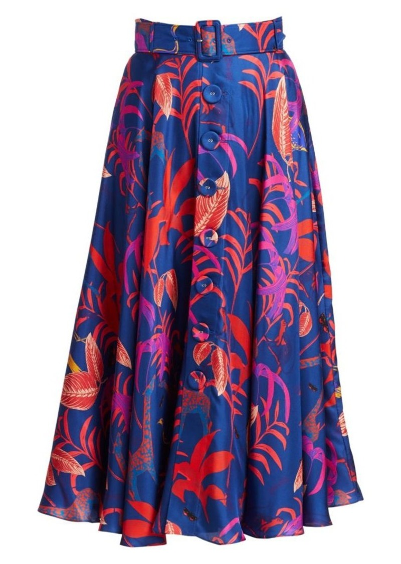 Borgo de Nor Nina Floral Silk Skirt