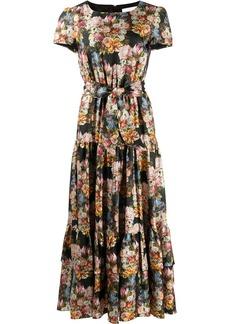 Borgo de Nor Elisa floral-print silk dress